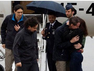 Los periodista secuestrados vuelven a España
