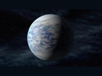 Representación artística del exoplaneta Kepler-69c