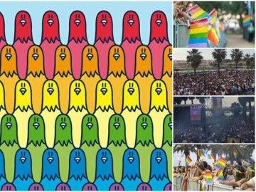 'Los Palomos' toman las calles de Badajoz en defensa de la diversidad sexual