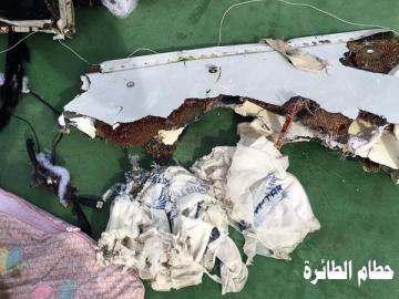 Restos del avión de EgyptAir