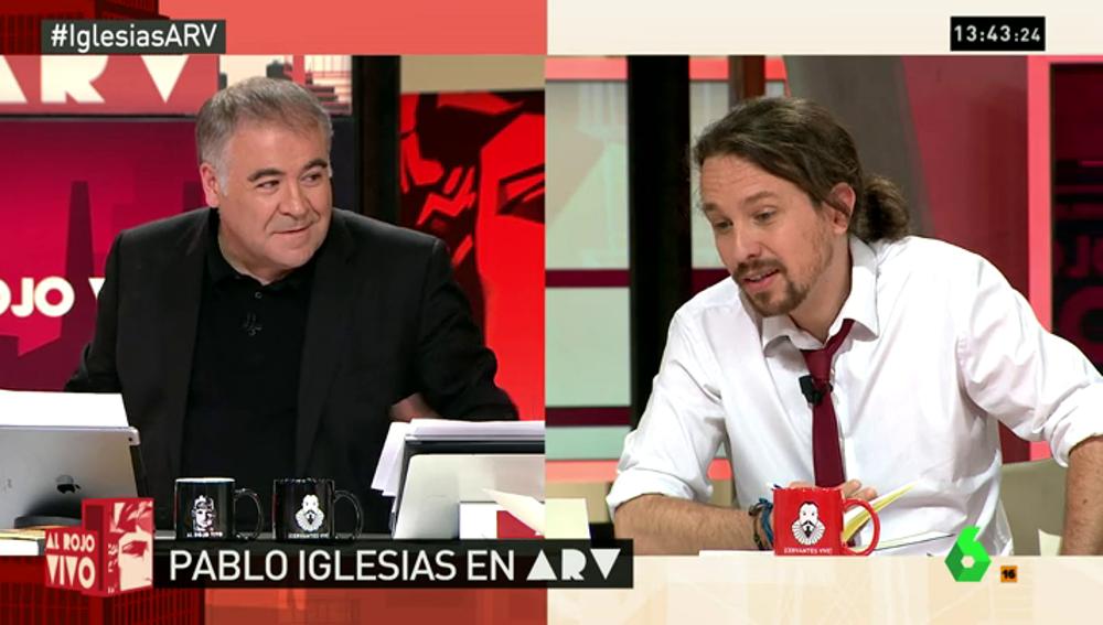 """Frame 17.228202 de: Pablo Iglesias ironiza sobre las críticas de Ciudadanos a la ausencia de aire acondicionado en el debate: """"Fue brutal"""""""