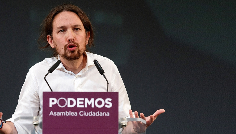 Pablo Iglesias en un mitin de Podemos