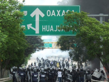 Disturbios en Oaxaca, México