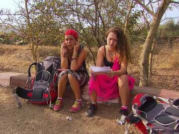 Sonia e Ylenia, en la última carrera