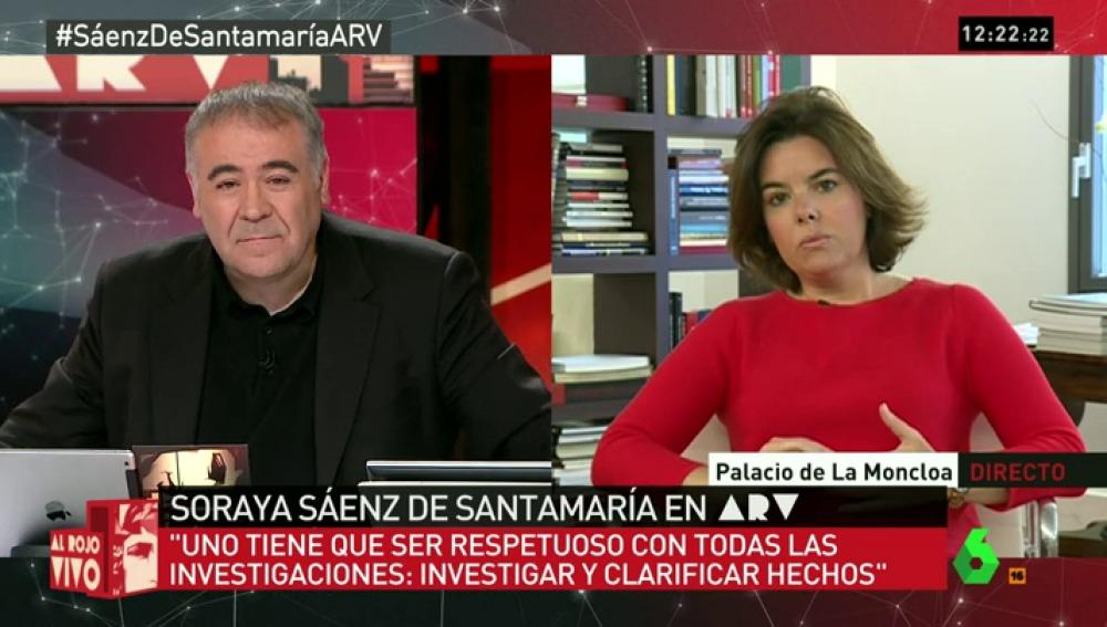 Soraya Sáenz de Santamaría en ARV
