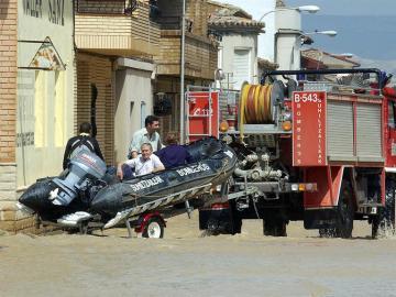 Inundación en Calatayud