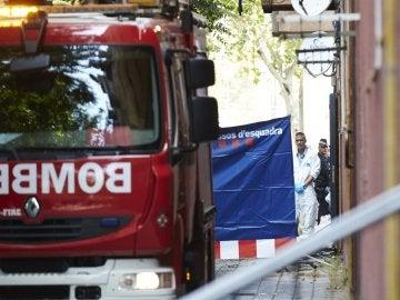 Imagen de archivo de un camión de bomberos en Barcelona