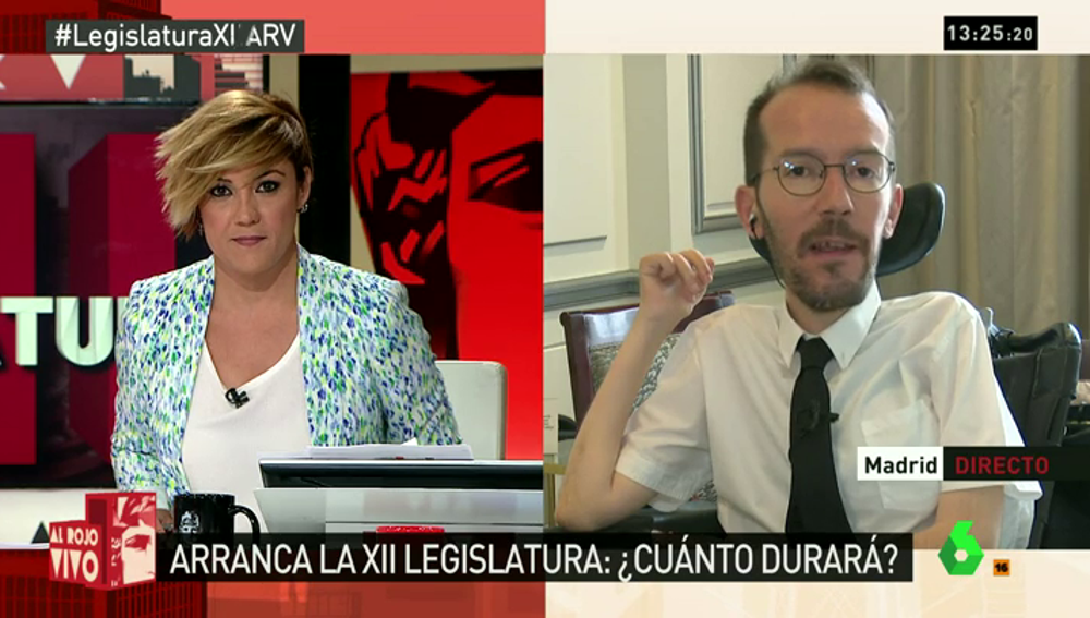 """Frame 1.882919 de: Echenique: """"Parece que en el mercadeo todo es posible, incluso el pacto de Rajoy con su enemigo independentista"""""""