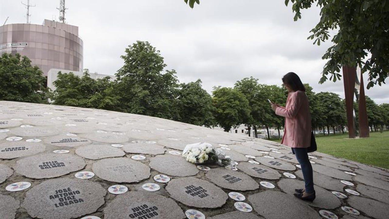 Imagen de archivo del monumento homenaje a las víctimas de ETA en Vitoria