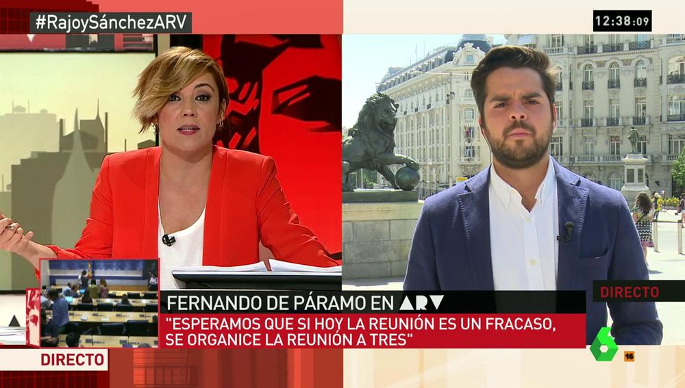 """Frame 52.79041 de: De Páramo: """"Queremos una mesa a tres para conseguir la abstención del PSOE y lograr que haya investidura"""""""