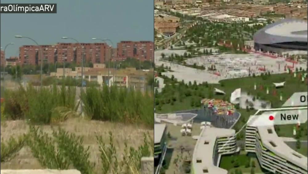 El lugar para acoger el canal de aguas bravas en JJOO,convertido en vertedero ilegal