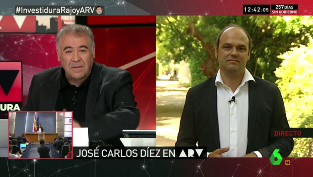 """José Carlos Díez: """"Me indigna que un Gobierno que vive de mis impuestos pacte con Bruselas algo que no cuenta"""""""