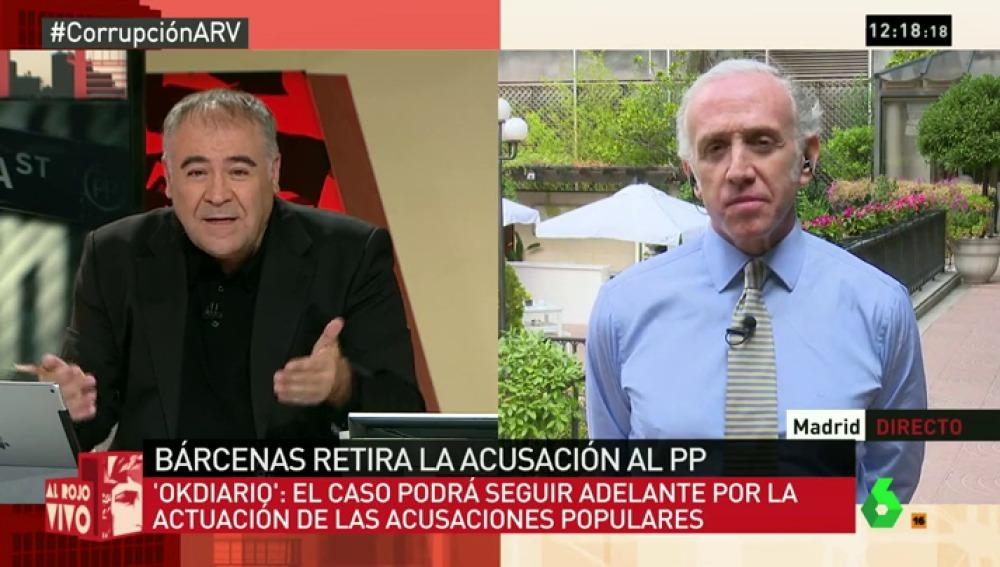 """Inda: """"Bárcenas achaca su retirada a problemas económicos pero creo que es por un acuerdo con el PP"""""""