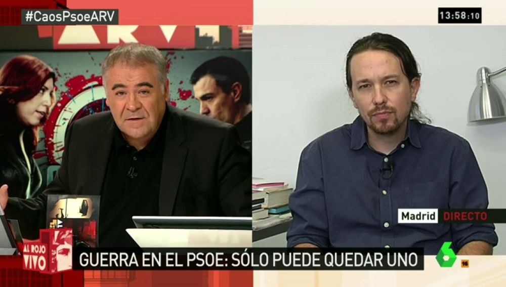 """Pablo Iglesias: """"El PSOE y Podemos se necesitan para gobernar. Ojalá quisieran un futuro con nosotros y no con el PP"""""""