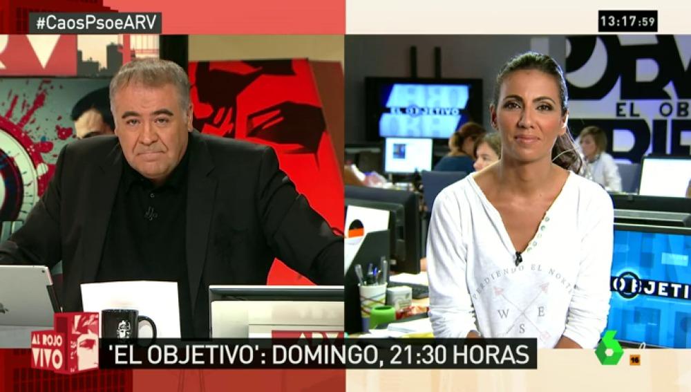 """Ana Pastor, de El Objetivo: """"Iceta, uno de los apoyos de Sánchez, dará la cara. A Díaz, Puig... no se les espera"""""""