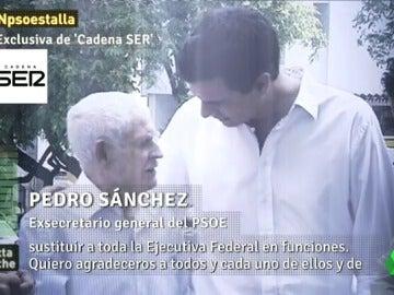 """Frame 53.01823 de: Pedro Sánchez: """"Espero todo el acierto del mundo a los compañeros y compañeras que me vayan a sustituir"""""""
