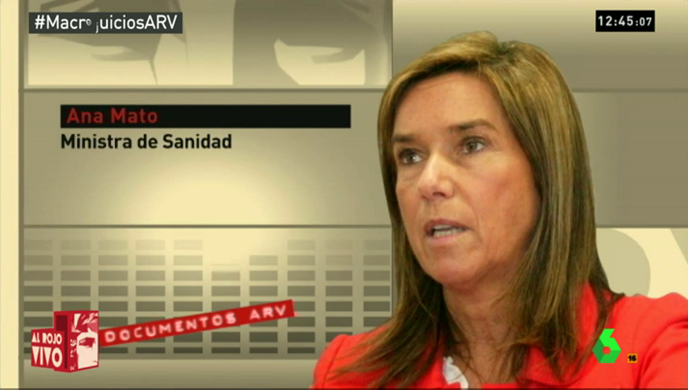 """Frame 19.441452 de: Así defendía Ana Mato al extesorero del PP: """"Luis Bárcenas es una persona honrada"""""""