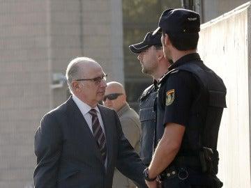 Rodrigo Rato a su llegada a los juzgados