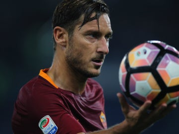 Francesco Totti, con la Roma