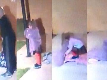 Un padre abandona a su hija de cinco años en plena noche