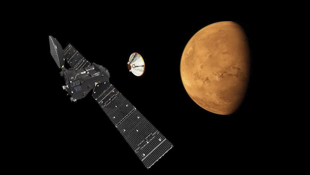 El proyecto ExoMars acercándose al planeta Marte