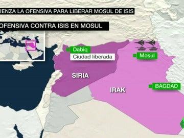 Frame 51.539591 de: Irak lanza una ofensiva para liberar Mosul de Daesh que pone en riesgo a 1,5 millones de personas
