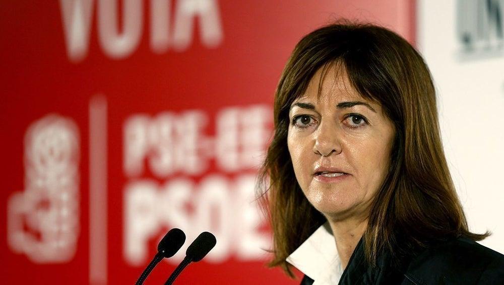 La secretaria general del PSE-EE, Idoia Mendia