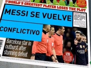Los medios ingleses hablan sobre el incidente de Messi con Mikel Arteta