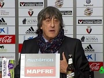 Enrique Martín se despide de la afición de Osasuna