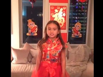 La nieta de cinco años de Trump hablando mandarín