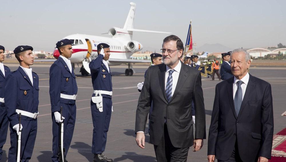 Mariano Rajoy, presidente del Gobierno, en Marruecos