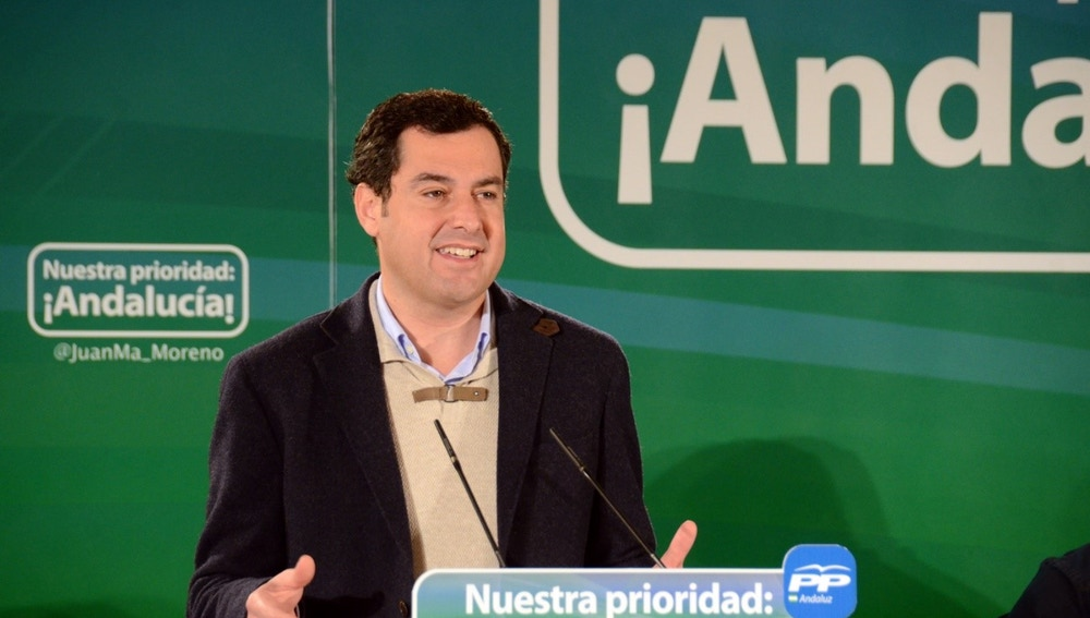 El presidente del PP andaluz, Juan Manuel Moreno Bonilla.