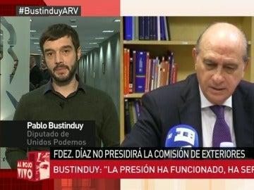 """Frame 102.688068 de: Pablo Bustinduy: """"Alguien que representa una afrenta a la Cámara no puede presidir nada. La presión funciona"""""""