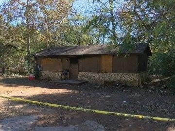 La vivienda afectada por el incendio