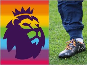 La campaña de la Premier con los cordones de las botas multicolores
