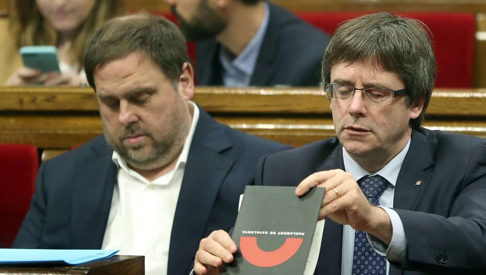 Oriol Junqueras y Carles Puigdemont