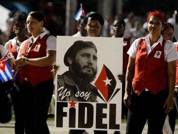Ceremonia de despedida a Fidel Castro en la Plaza de la Revolución de Santiago de Cuba (Cuba)