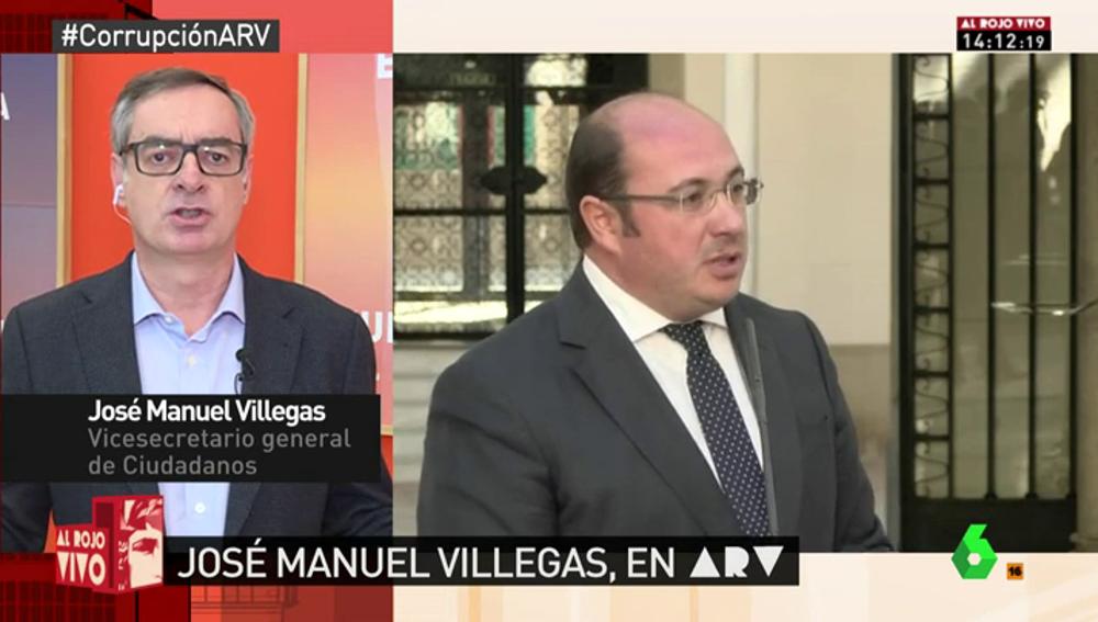 """Frame 7.821893 de: José Manuel Villegas: """"El presidente de Murcia se comprometió a dimitir si era imputado y esperamos que cumpla"""""""