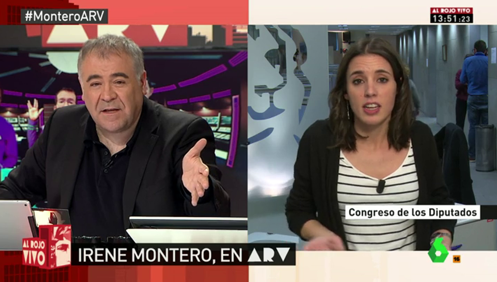 """Frame 4.421005 de: Irene Montero: """"Pablo representa un proyecto en el que cabe Errejón, Urbán y todo el mundo"""""""