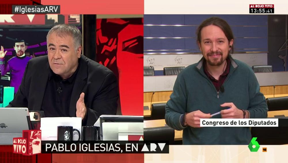 """Frame 475.508903 de: Pablo Iglesias: """"Estoy muy a gusto trabajando con Errejón y le quiero a mi lado"""""""