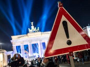 Puerta de Brandenburgo en la Plaza de París en Berlín