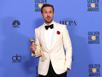 Ryan Gosling con su Globo de Oro