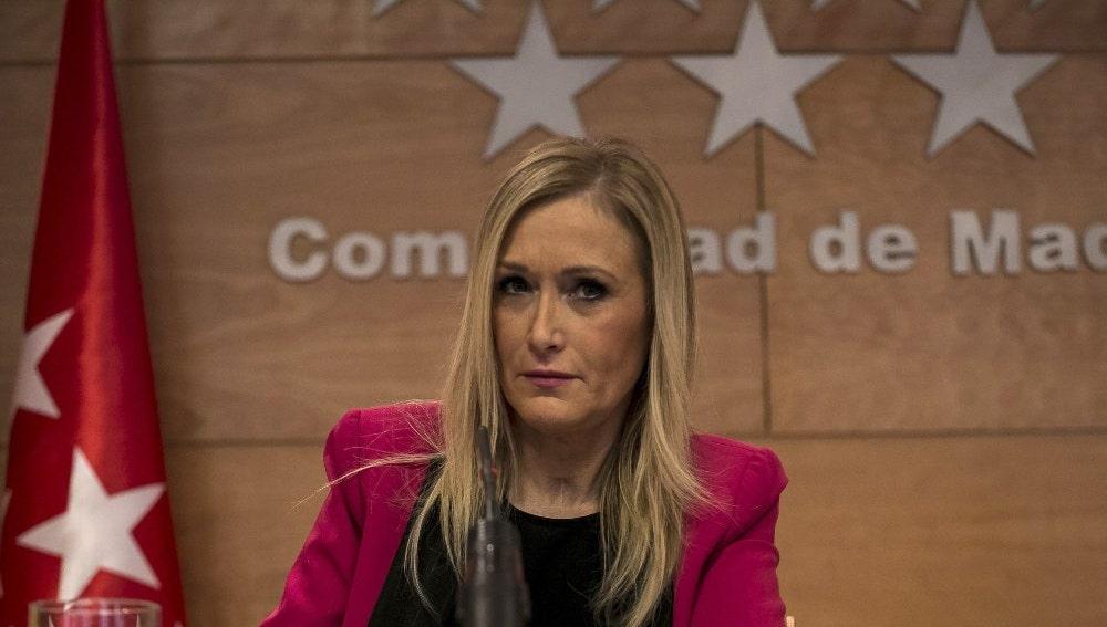 Cristina Cifuentes ante los medios