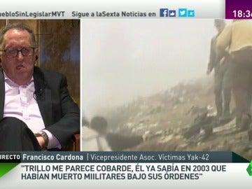 """Frame 157.449272 de: Francisco Cardona: """"Se reconoce tras 14 años que no estamos tan locos como decía Federico Trillo"""""""