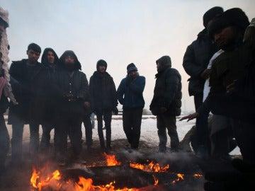 Migrantes en Belgrado