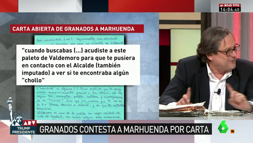 """Frame 63.955862 de: Marhuenda responde a la carta abierta de Granados: """"Como todo mentiroso, cuenta parte de verdad y de mentira"""""""