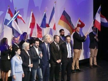 Reunión de los líderes de los principales partidos de la ultraderecha europea