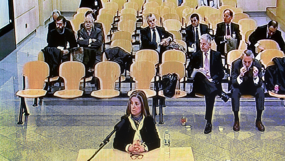 Rosalía Iglesias en el juicio de Gürtel