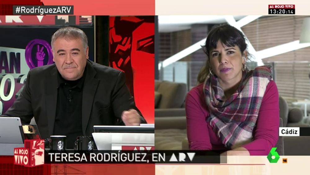 """Frame 233.436527 de: Teresa Rodríguez, sobre el debate de Podemos: """"Hay que transitar hacia un modelo con protagonismos colectivos"""""""