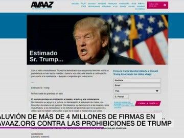 Firmas contra Trump